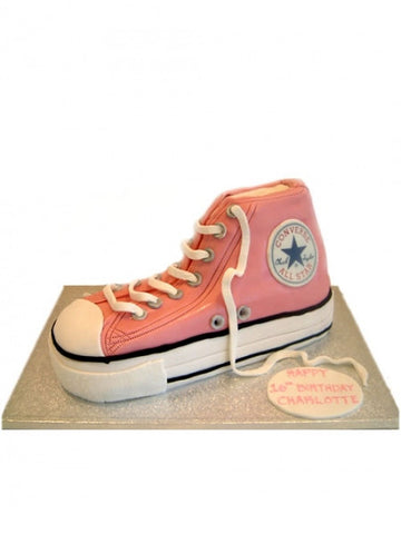 Pink Converse Trainers Birthday Cake
