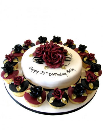 Roses on Birthday Cake