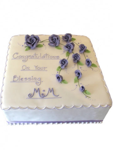 Celebrate your Blessing Roses Cake