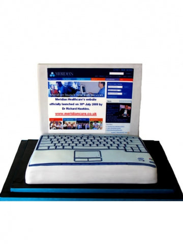 Laptop Shaped Corporate Cake