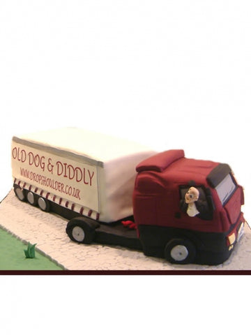 Lorry Shaped Corporate Cake