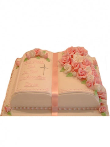 Open Bible Traditional Confirmation Cake