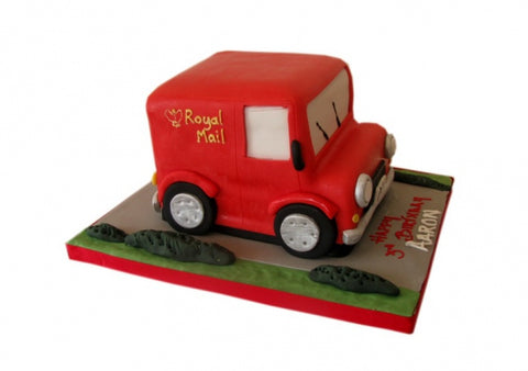 Postman Pat's Van Shaped Birthday Cake