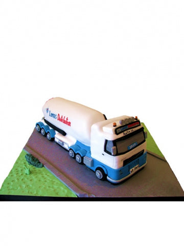 Tanker Shaped Corporate Cake