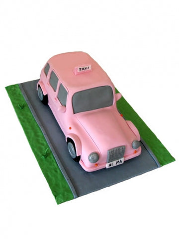 Taxi Shaped Corporate Cake