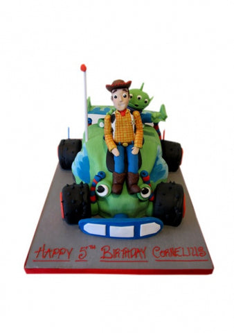 Toy Story Car and Figures Shaped Birthday Cake