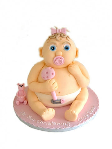 Upright Baby Christening Cake