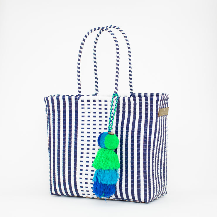 Preppy - White and Blue Citron Bag