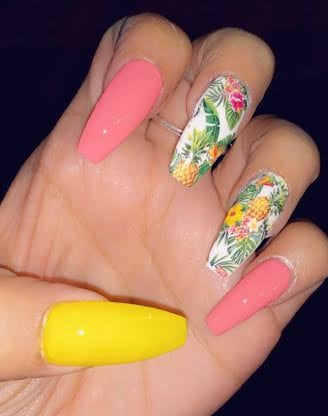 Hawaiian Nail wraps
