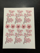 Load image into Gallery viewer, Cherry blossom nail decals