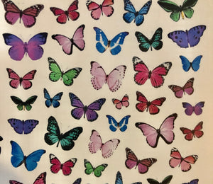 Colorful butterflies 1/2 size