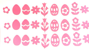 Pink Easter Decals