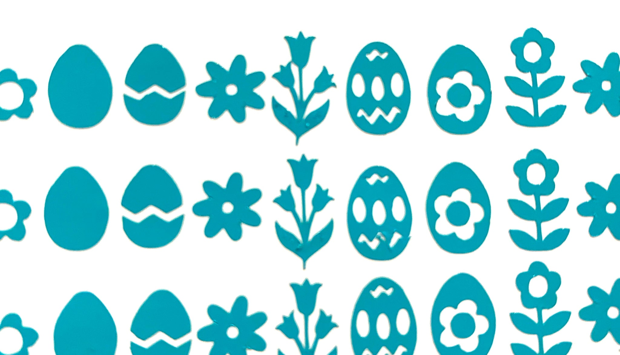 Teal Easter Decals