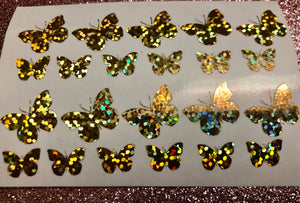 Holographic Gold Butterflies