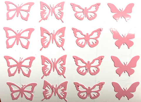 Pink Mini Butterflies