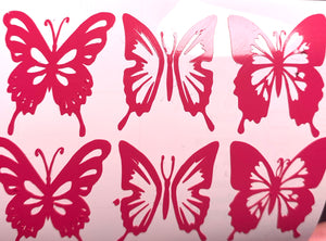 Butterflies Hot Pink