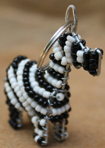 Beaded Animals Keyrings