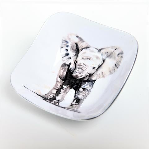 Baby Elephant Square Bowl