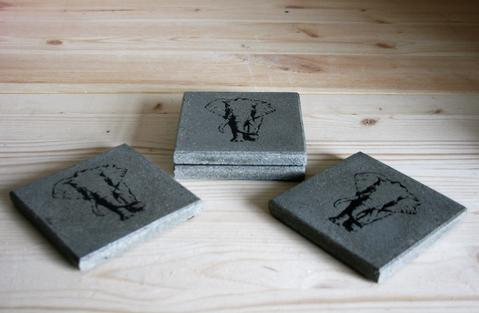 Elephant set of 4 coasters
