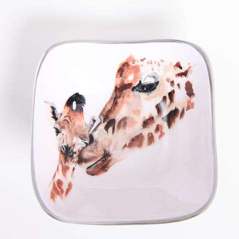 Giraffe Square Bowl