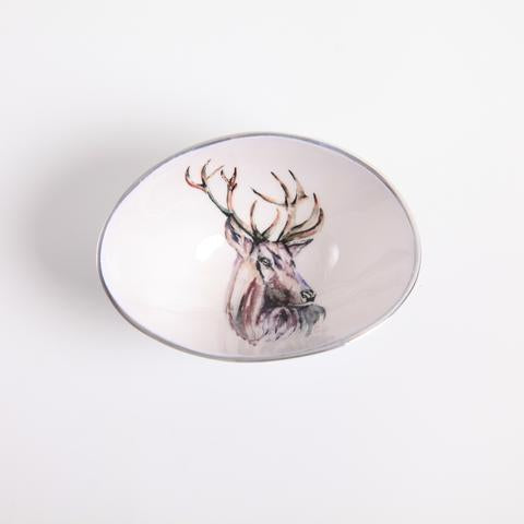 Stag Oval Bowl