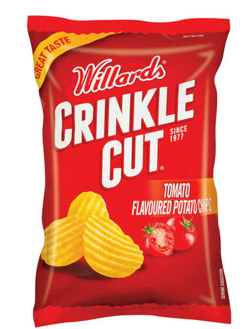 Willards Crinkle Cut Potato Chips - Tomato 125g