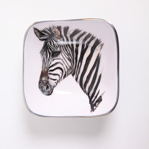 Zebra Square Bowl