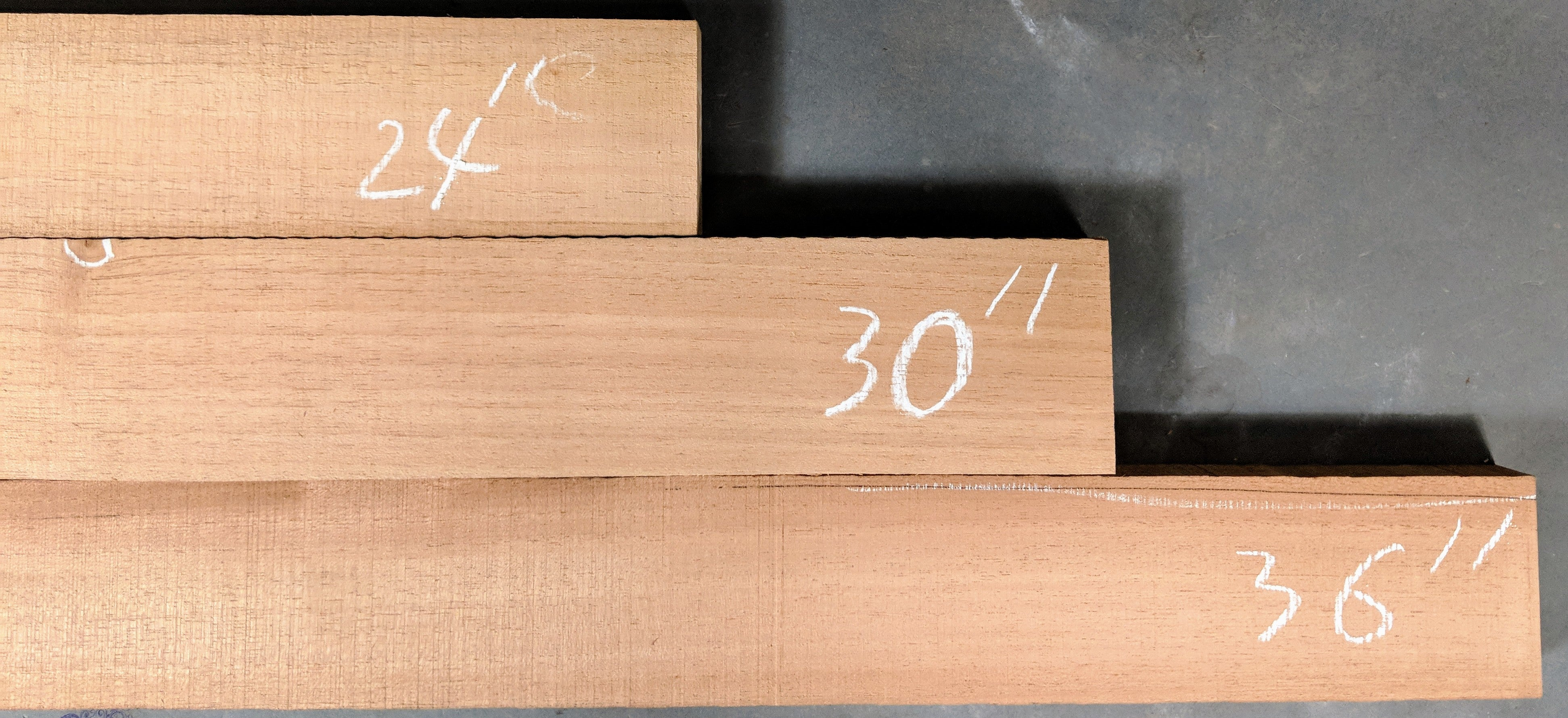 AA grade Spanish Cedar 1 x 3 Quartersawn Neck Blanks
