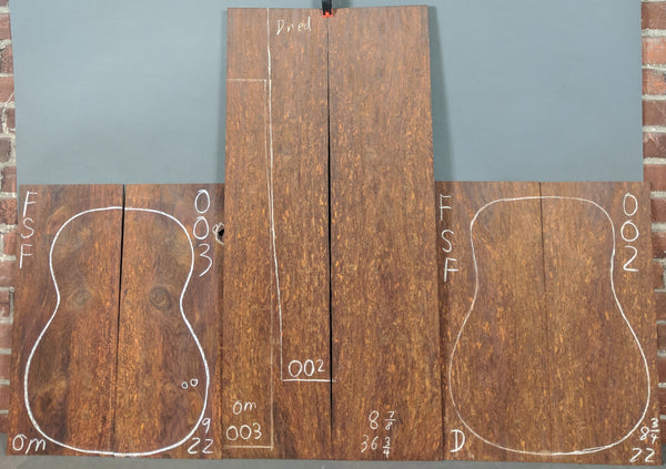 Figured Cocobolo Back & Side Set Coc-002-003