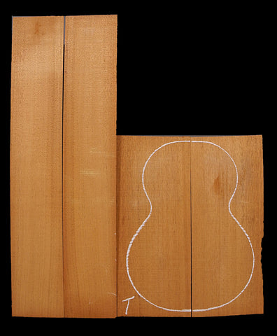 Honduras Mahogany Ukulele Back & Side Set - Plain