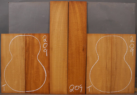 Mahogany Ukulele Back, Top, & Side Set  U-209