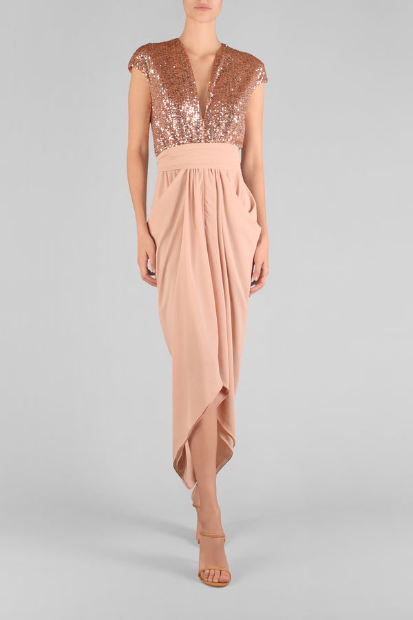 JE T'AIME WATERFALL DRESS