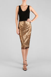 BATHED IN GOLD SKIRT