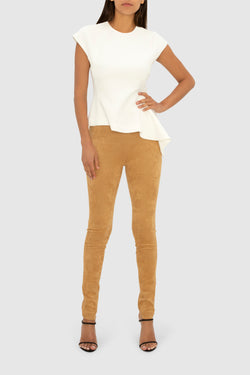RAWHIDE FAUX SUEDE UPTOWN CHIC PANT