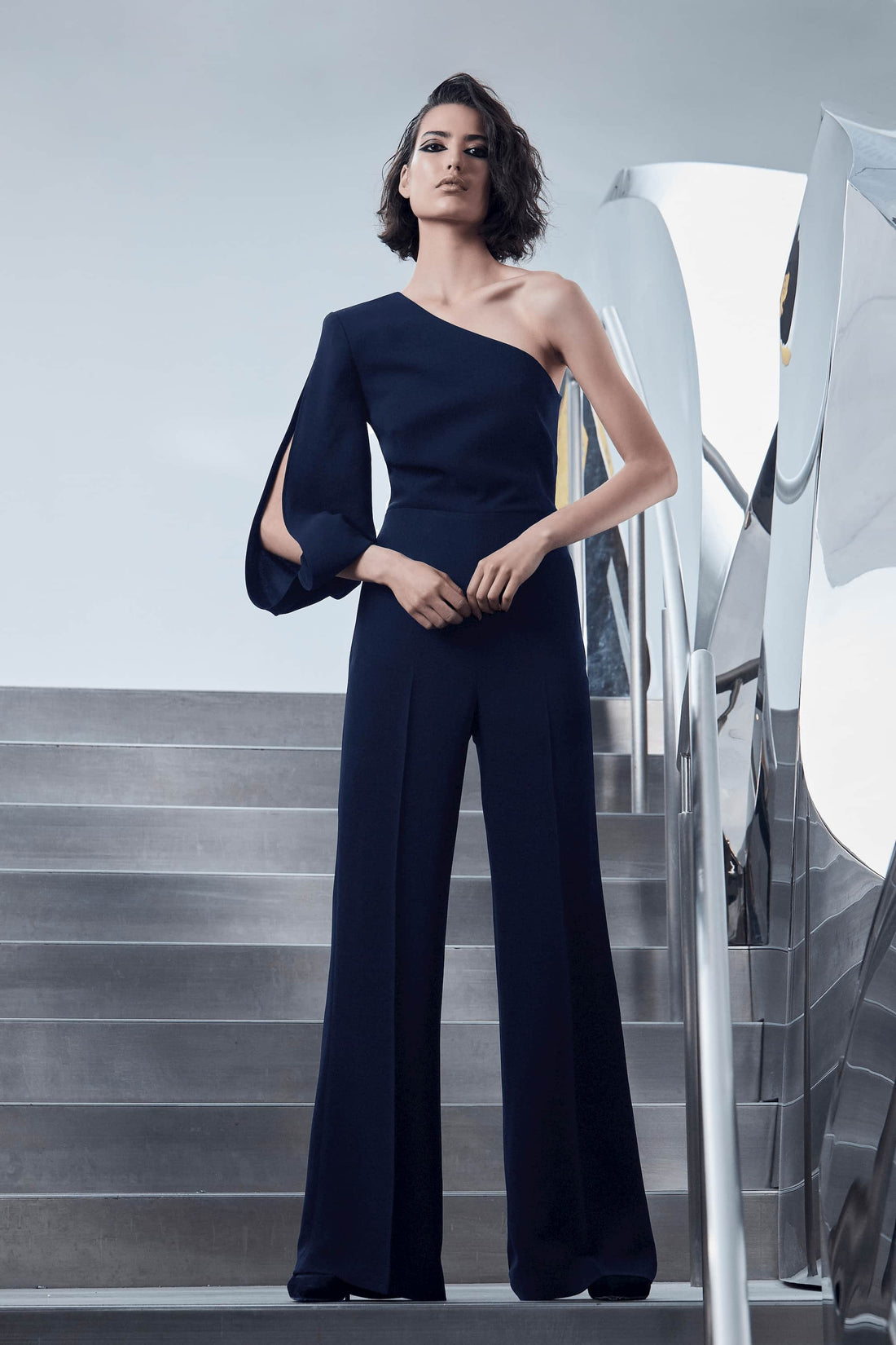 MIDNIGHT MAGIC ASYMMETRIC JUMPSUIT