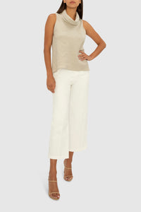 THE FLAX LINEN WORK OR PLAY TOP