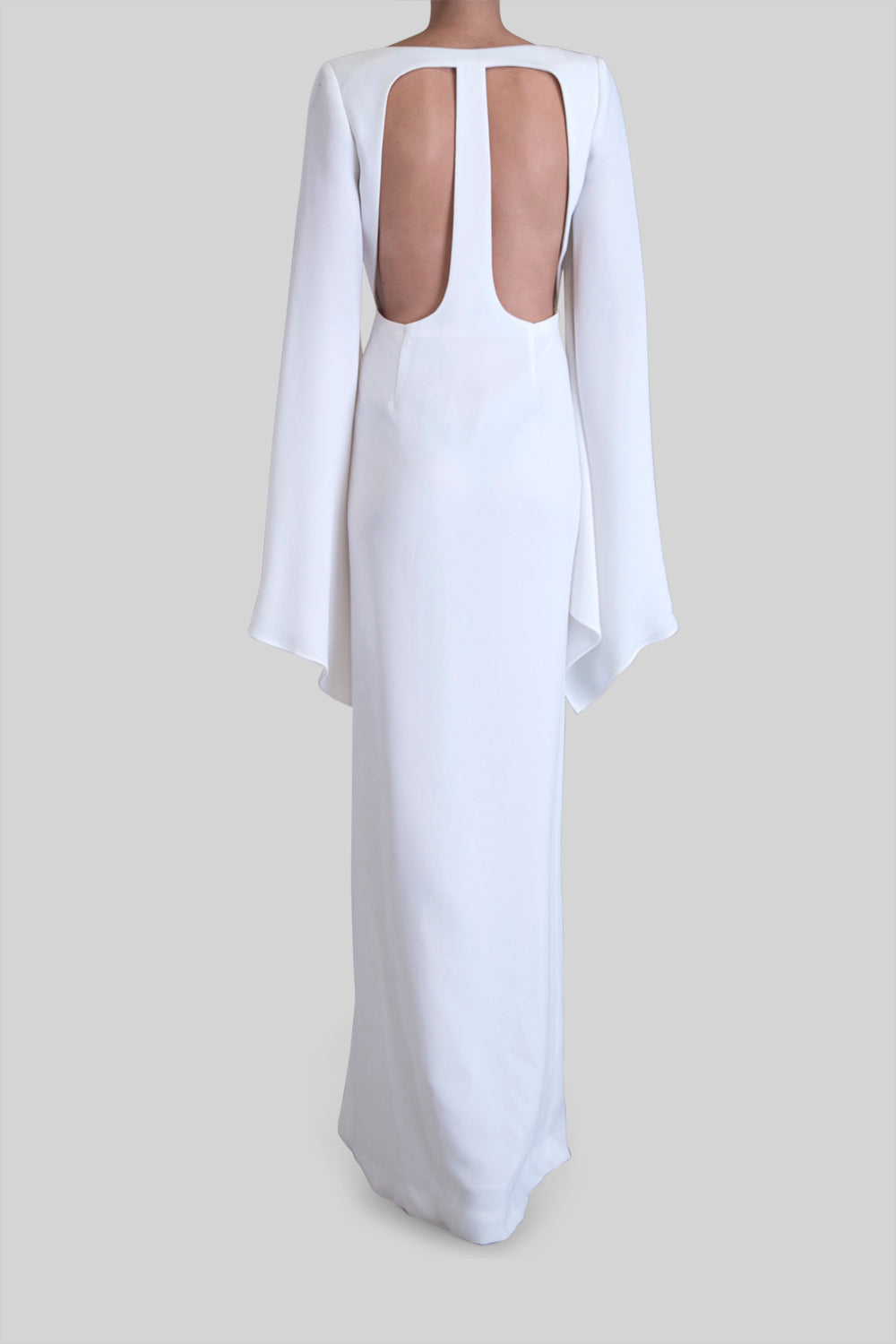WHITE CREPE ETERNAL LOVE GOWN