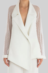 ALABASTER PERFORATED PERFECT JACKET