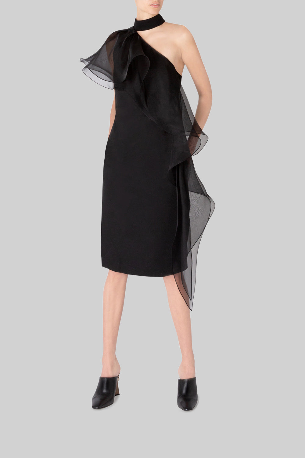 PERFECT ASYMMETRY SHEATH DRESS