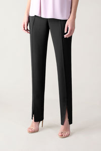 BLACK CREPE ULTRA SLIM PANT