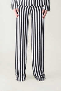 BLACK AND WHITE STRIPE IN VOGUE FLUID PANT