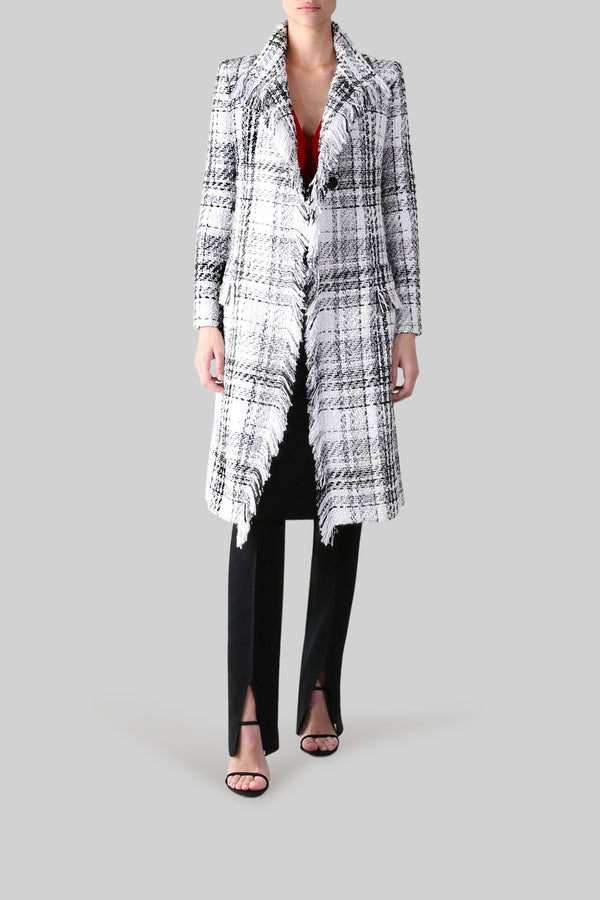 BLK/WHITE TWEED WINDSOR COAT