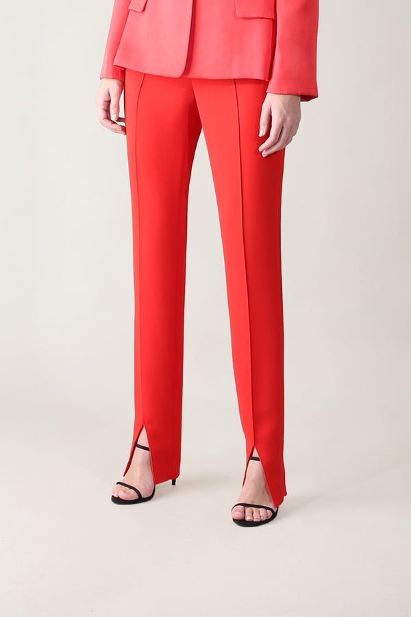 RED SATIN SENSUOUS & SLIM PANT