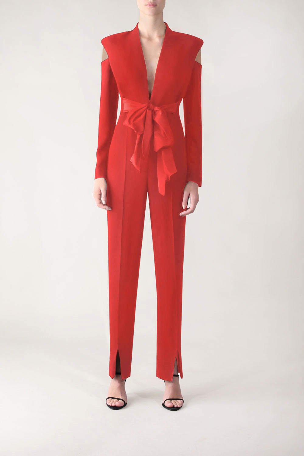 RED CREPE MUST HAVE YOU JUMPSUIT