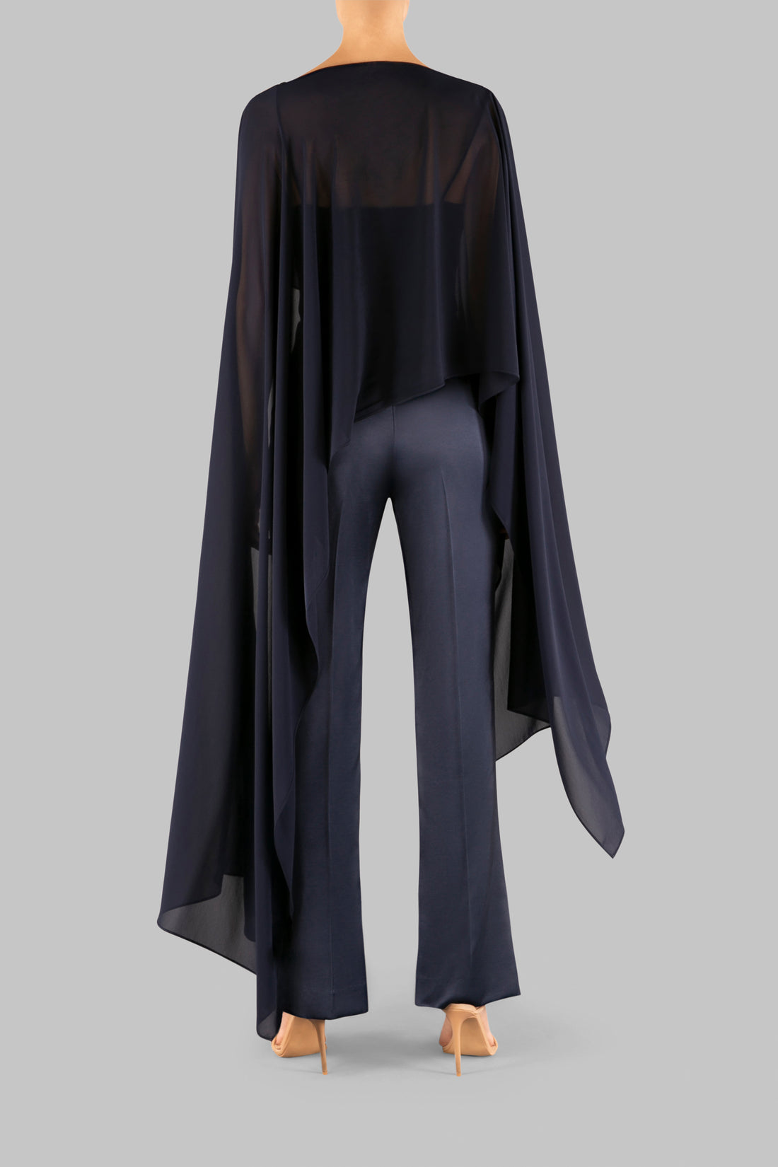 NAVY GEORGETTE GATSBY COVER UP