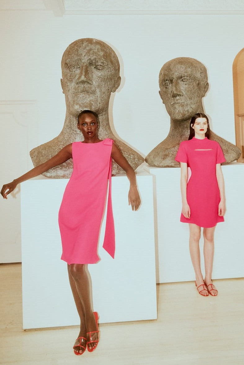 PASSION PINK HOMAGE TO JACKIE DRESS