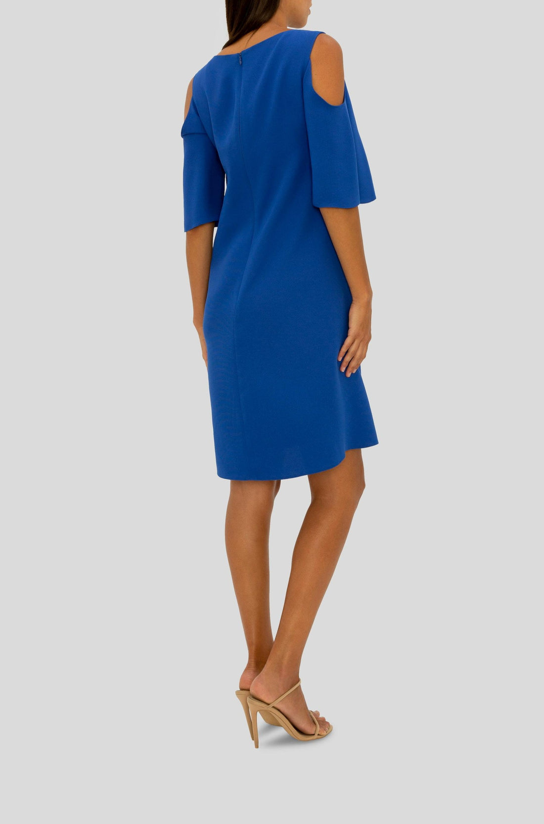 COBALT CELEBRATION COLD SHOULDER DRESS