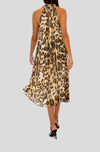 LEOPARD TRAPEZE DRESS