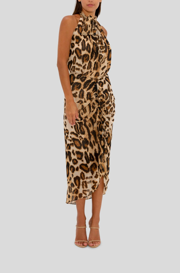 LEOPARD DRAWN TO YOU SKIRT