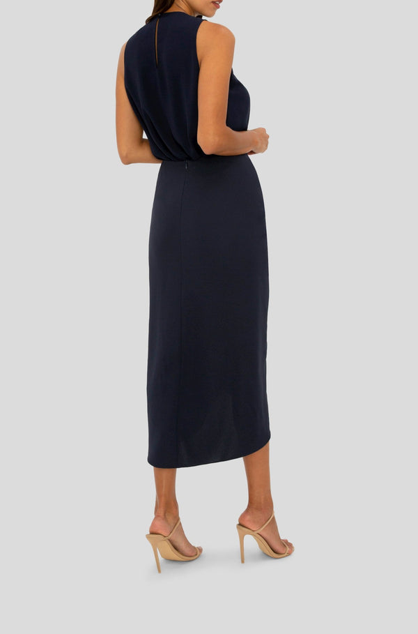 NAVY DRAWN TO YOU SKIRT